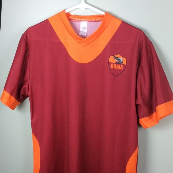 ed9e1f80f16 Roma  10 Totti Polyester Red Soccer Jersey. M 5ab97a0500450f9b248080a8